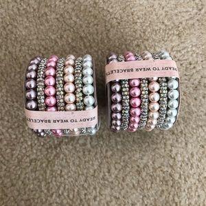 """2 """"ready to wear"""" 7 piece bracelet sets"""